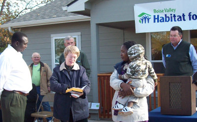 Dedication of the Habitat for Humanity house